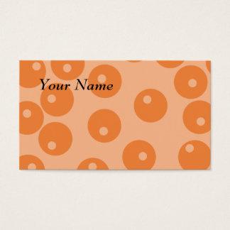 Funky orange retro pattern. business card