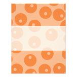 Funky orange retro pattern. custom invites