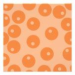 Funky orange retro pattern. invites