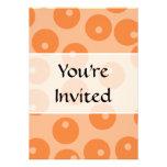 Funky orange retro pattern. personalized invite