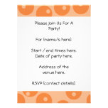 Funky orange retro pattern. personalized invites