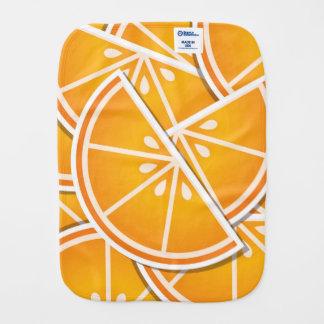 Funky orange wedges burp cloth