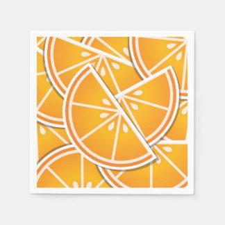 Funky orange wedges disposable napkins