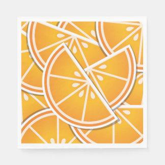 Funky orange wedges paper napkins