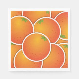 Funky oranges disposable napkin