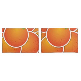 Funky oranges pillowcase