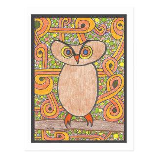 Funky Owl Postcard