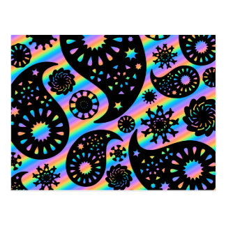 Funky Paisley Design. Postcard