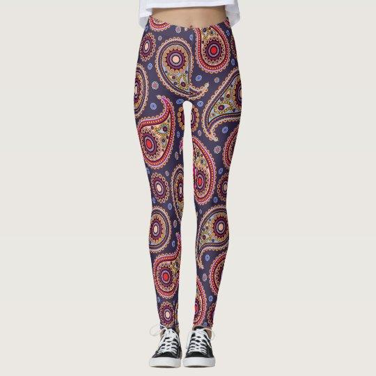 Funky Paisley Pattern Leggings