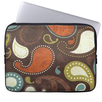 Funky Paisley Texture Laptop Sleeve