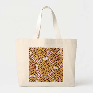 Funky Passion fruit Large Tote Bag