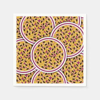 Funky passion fruit paper napkin