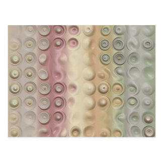 Funky Pastel Creamy Circles and Stripes Postcard