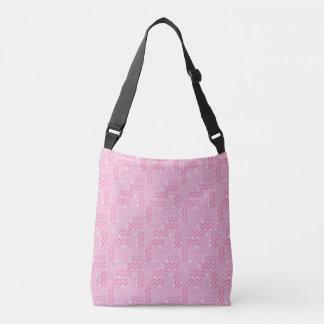 Funky Pastel Pink Memphis Design Crossbody Bag