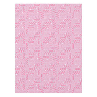 Funky Pastel Pink Memphis Design Tablecloth