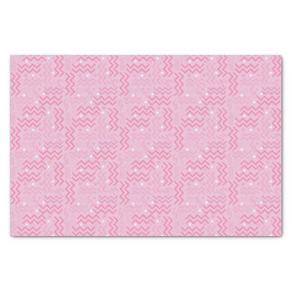 Funky Pastel Pink Memphis Design Tissue Paper