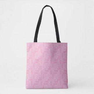 Funky Pastel Pink Memphis Design Tote Bag