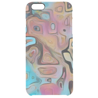 Funky Pastel Psychedelic Clear iPhone 6 Plus Case