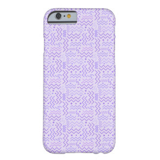 Funky Pastel Purple Memphis Design Barely There iPhone 6 Case