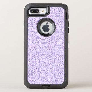 Funky Pastel Purple Memphis Design OtterBox Defender iPhone 8 Plus/7 Plus Case