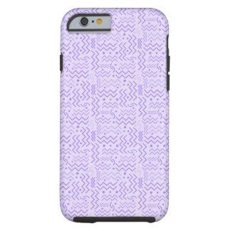 Funky Pastel Purple Memphis Design Tough iPhone 6 Case