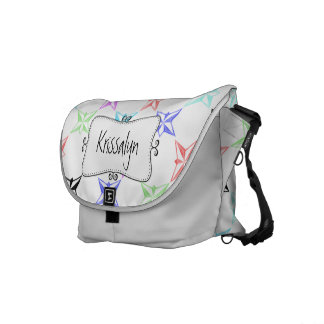 Funky Pastel Stars Monogrammed Courier Bags