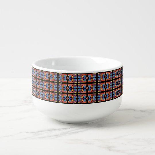funky pattern soup mug