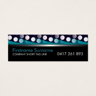 Funky Patterns Teal White on Black Business Card