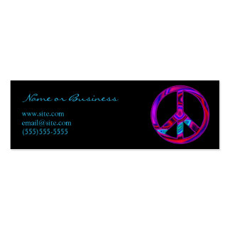 Funky Peace Symbol Business Card Templates