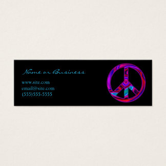 Funky Peace Symbol Mini Business Card