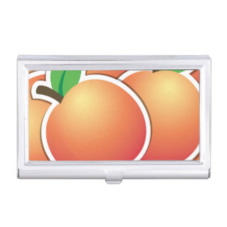 Funky peach business card holders