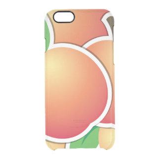 Funky peach clear iPhone 6/6S case