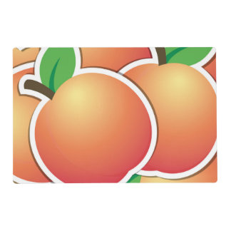 Funky peach laminated place mat
