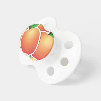 Funky peach pacifier