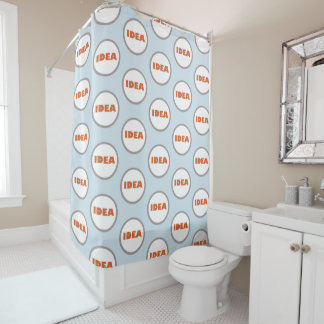 Funky Personalized Idea Shower Curtain