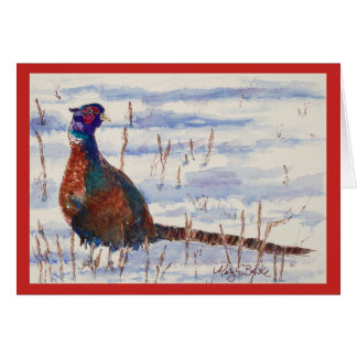 Funky Pheasant Holiday Card