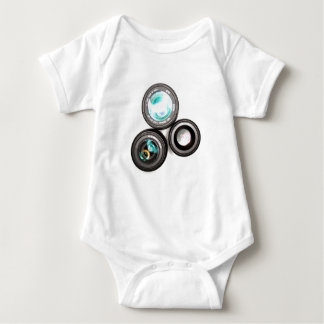 funky photography lens set baby bodysuit