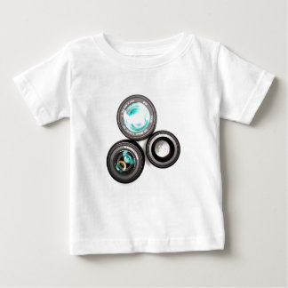 funky photography lens set baby T-Shirt
