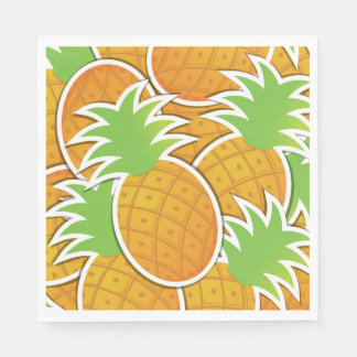 Funky pineapple disposable napkin