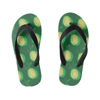Funky pineapple kid's flip flops