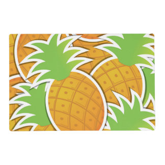 Funky pineapple laminated place mat