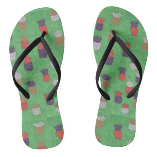 Funky Pineapple Pattern Flipflops