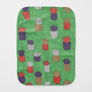 Funky Pineapple Print Burp Cloth