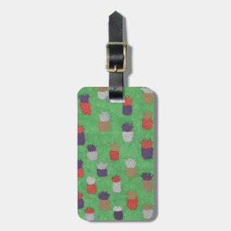 Funky Pineapple Print Luggage Tag