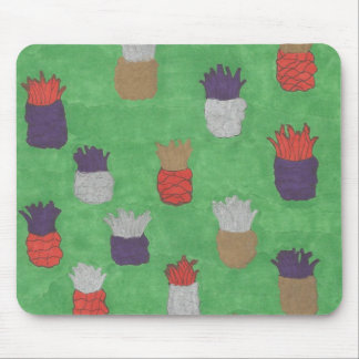 Funky Pineapple Print Mouse Pad