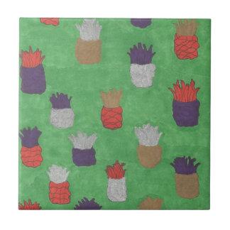 Funky Pineapple Print Tile