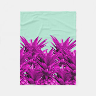 Funky Pineapples Fleece Blanket