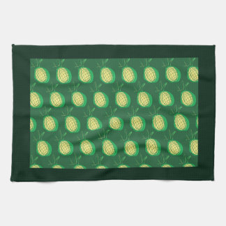 Funky pineapples kitchen towel
