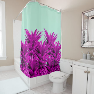 Funky Pineapples Shower Curtain