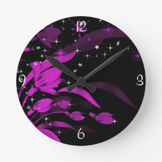 Funky Pink and Black Wall Clock